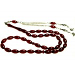 Ateş Kırmızı Toz Kehribar Tesbih 125830